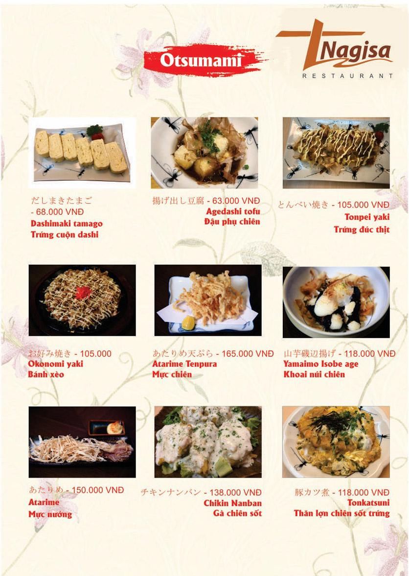 Menu Nhà hàng Nhật Bản Nagisa - Linh Lang  11