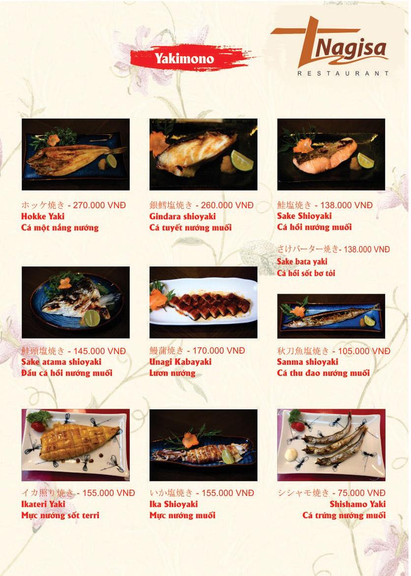 Menu Nhà hàng Nhật Bản Nagisa - Linh Lang  12