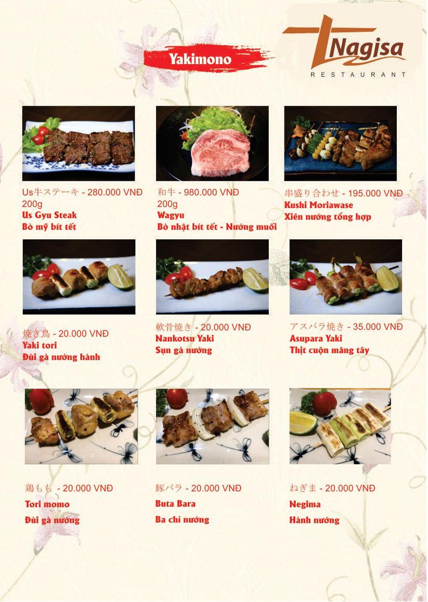 Menu Nhà hàng Nhật Bản Nagisa - Linh Lang  13