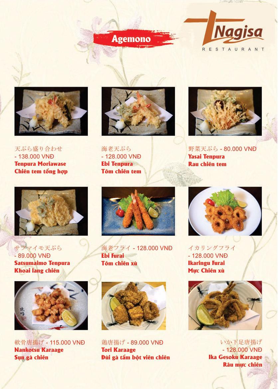 Menu Nhà hàng Nhật Bản Nagisa - Linh Lang  14
