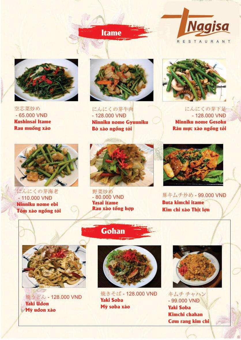 Menu Nhà hàng Nhật Bản Nagisa - Linh Lang  15