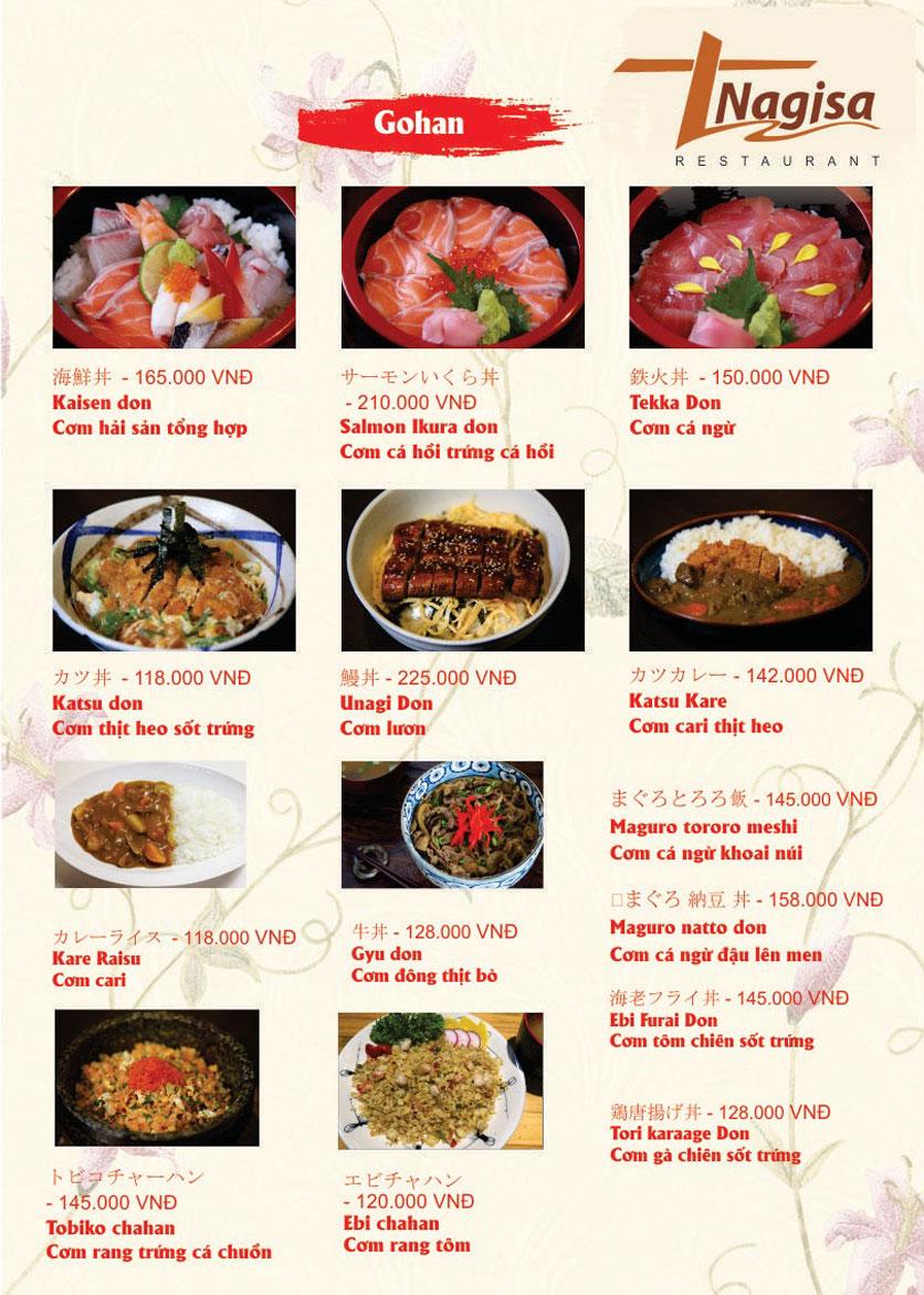 Menu Nhà hàng Nhật Bản Nagisa - Linh Lang  16