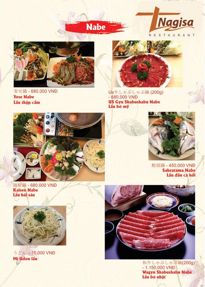 Menu Nhà hàng Nhật Bản Nagisa - Linh Lang  18