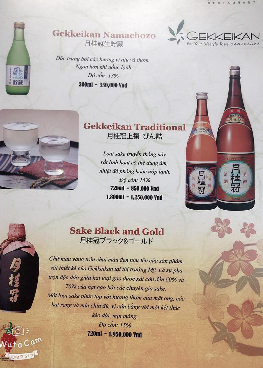 Menu Nhà hàng Nhật Bản Nagisa - Linh Lang  21