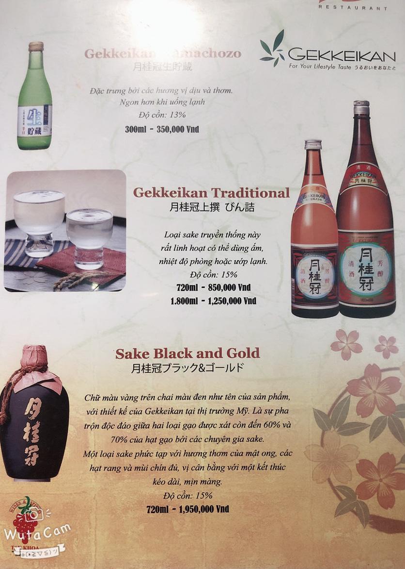 Menu Nhà hàng Nhật Bản Nagisa - Linh Lang  22
