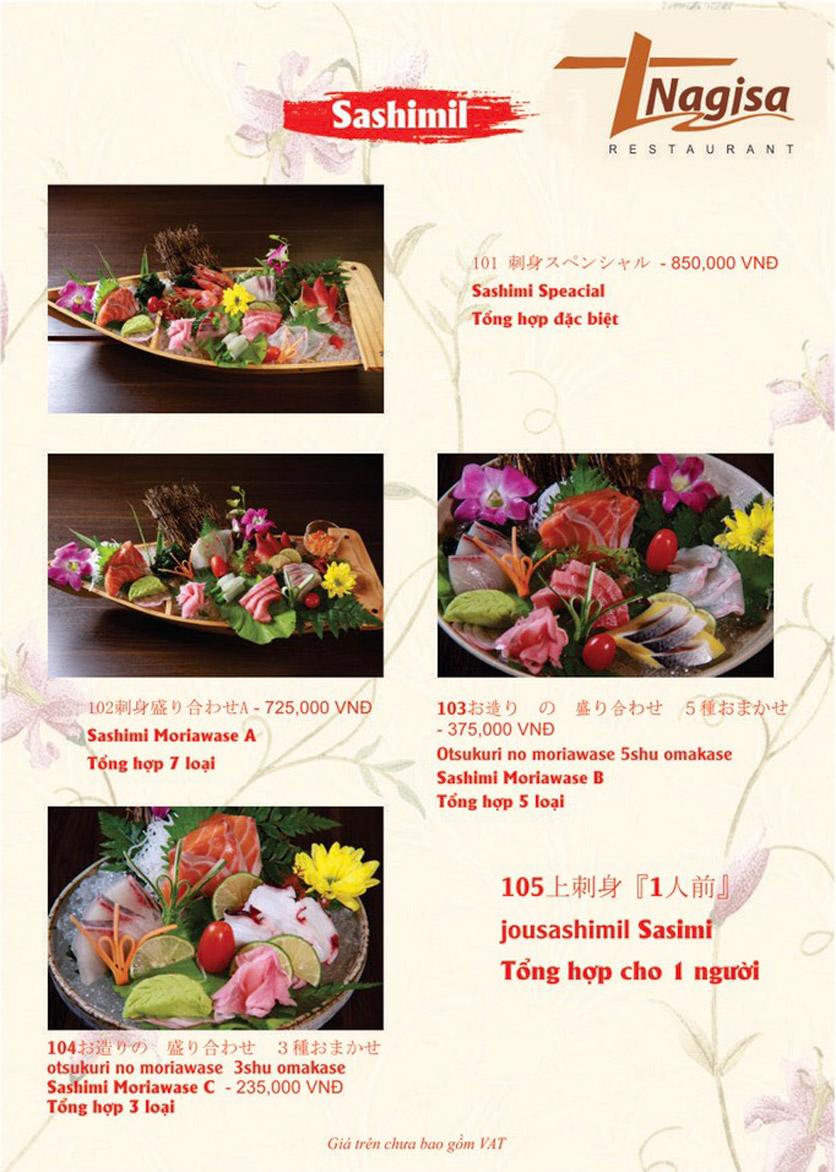 Menu Nhà hàng Nhật Bản Nagisa - Linh Lang  1
