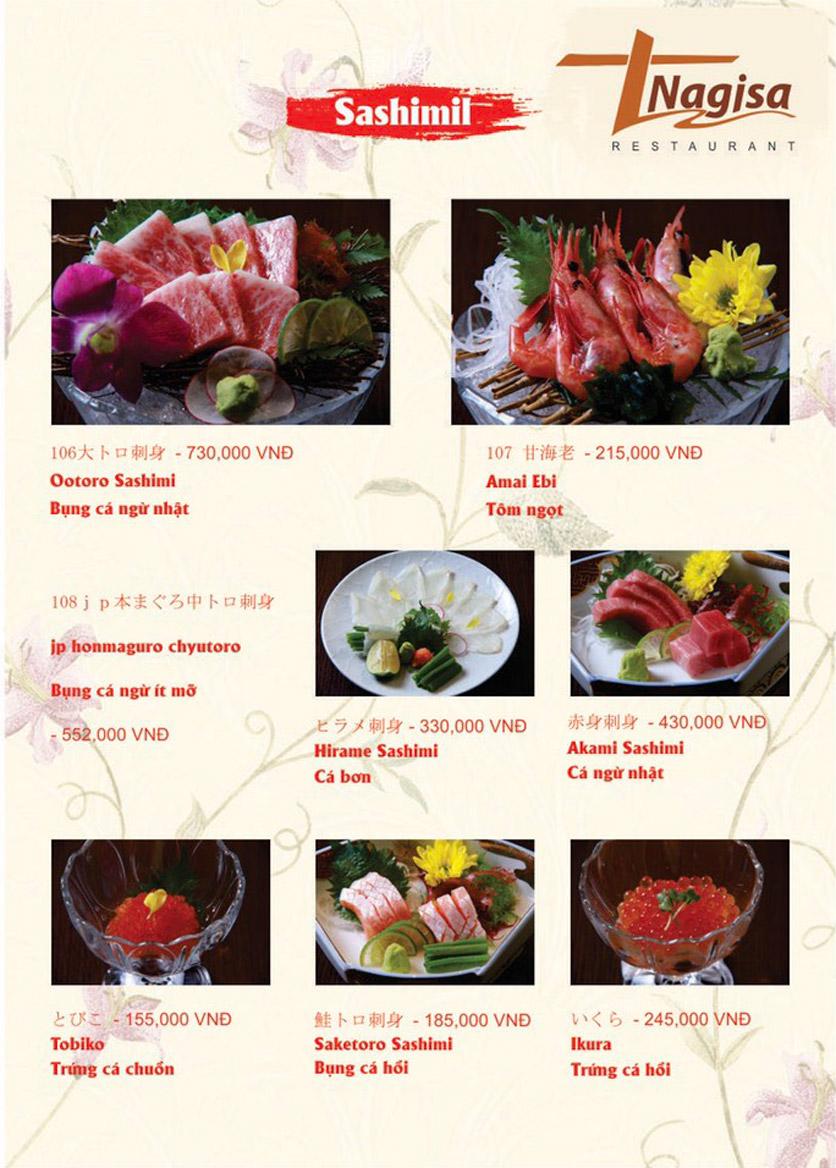 Menu Nhà hàng Nhật Bản Nagisa - Linh Lang  2