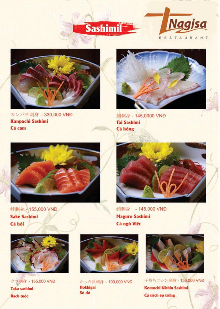 Menu Nhà hàng Nhật Bản Nagisa - Linh Lang  3