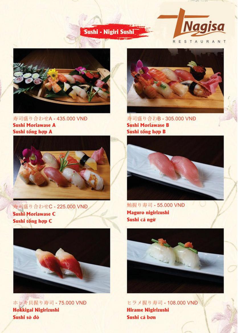 Menu Nhà hàng Nhật Bản Nagisa - Linh Lang  4