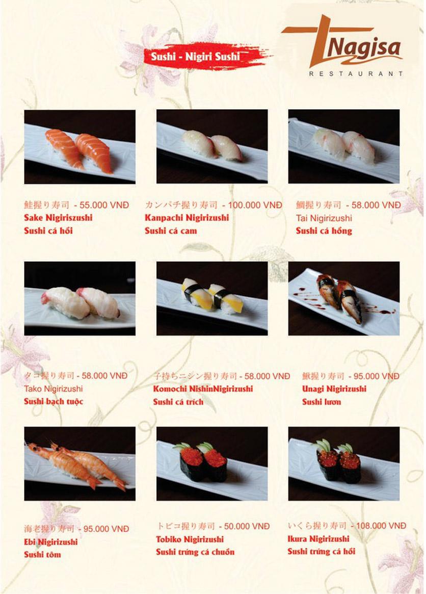 Menu Nhà hàng Nhật Bản Nagisa - Linh Lang  5