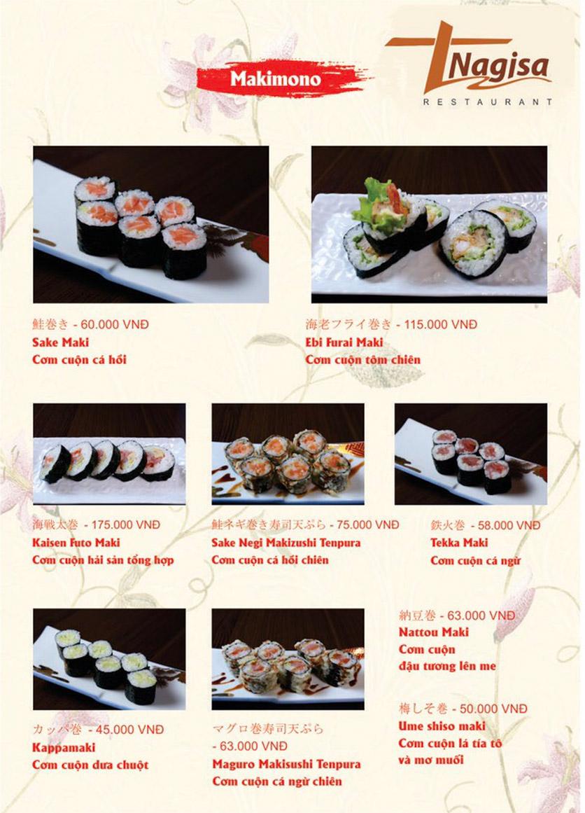 Menu Nhà hàng Nhật Bản Nagisa - Linh Lang  6