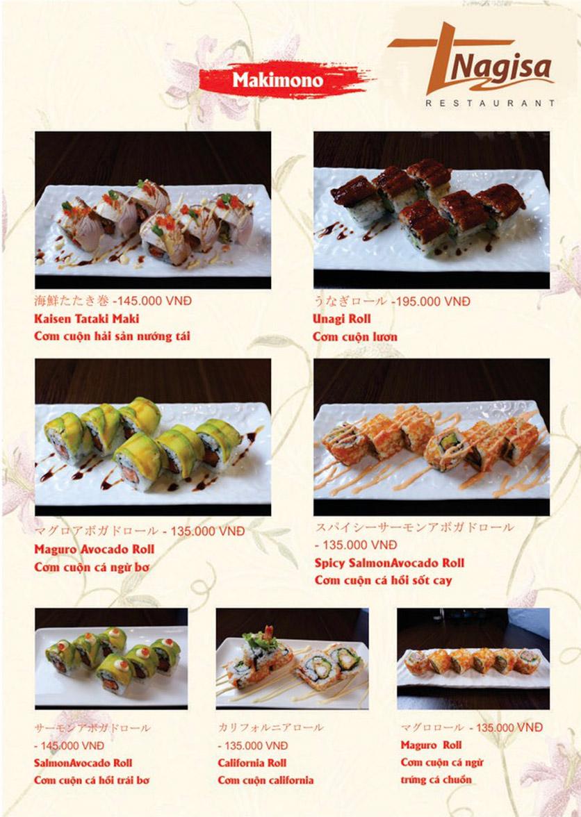 Menu Nhà hàng Nhật Bản Nagisa - Linh Lang  7