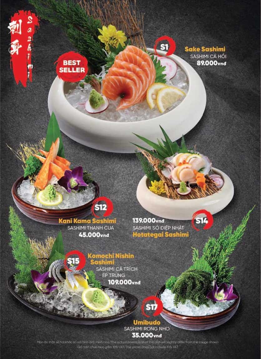 Menu Naked Sushi - Trương Định 1