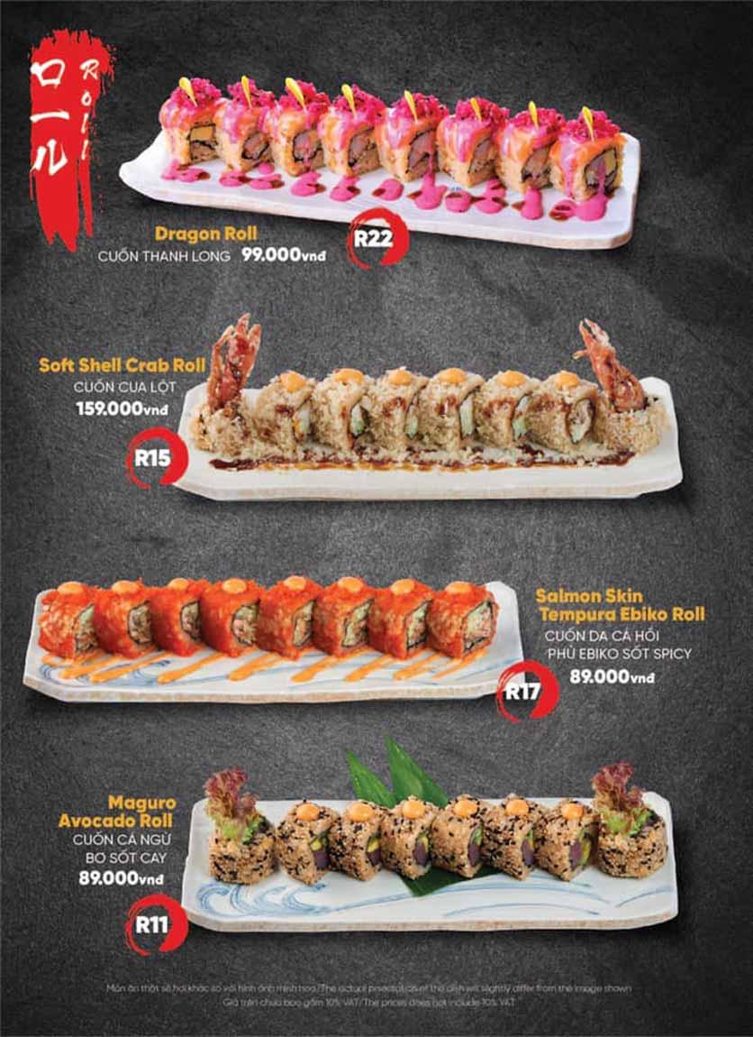 Menu Naked Sushi - Trương Định 11
