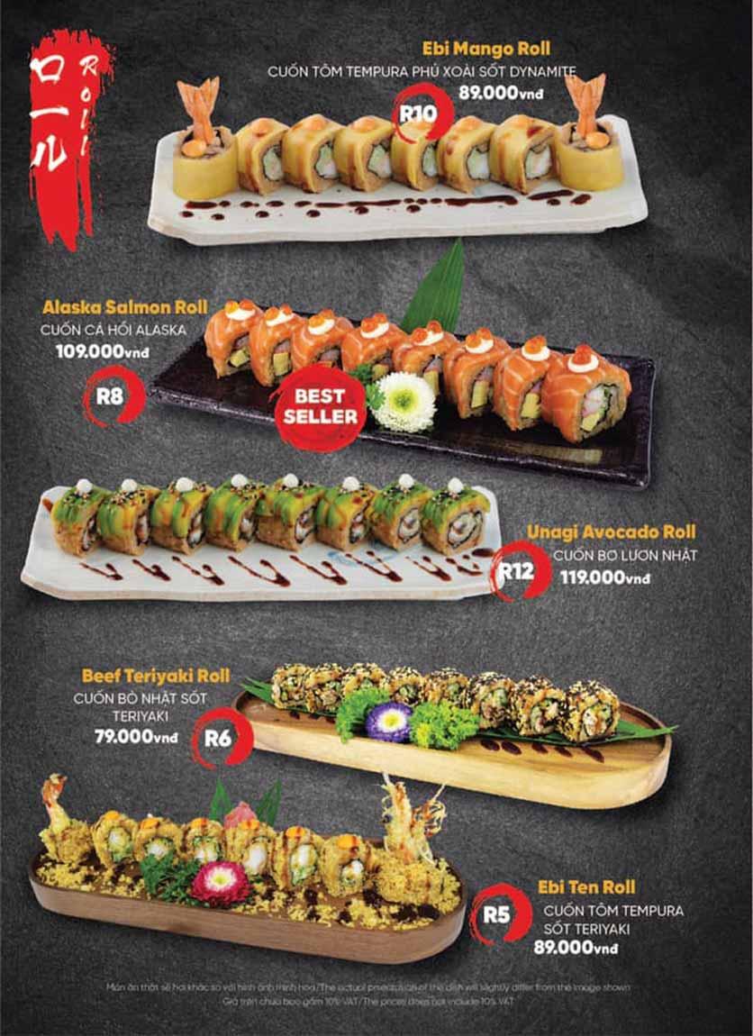 Menu Naked Sushi - Trương Định 13