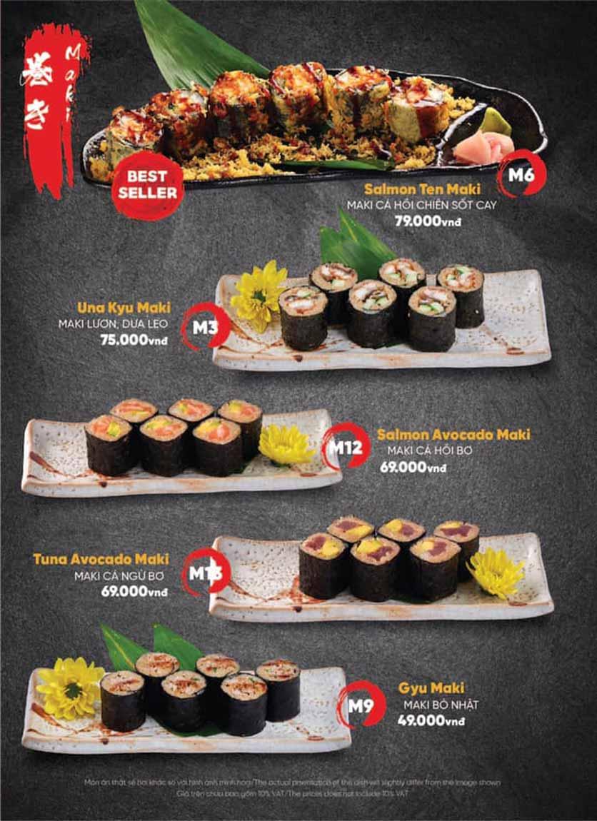 Menu Naked Sushi - Trương Định 16