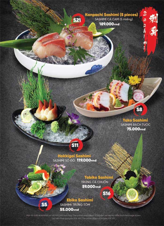 Menu Naked Sushi - Trương Định 2