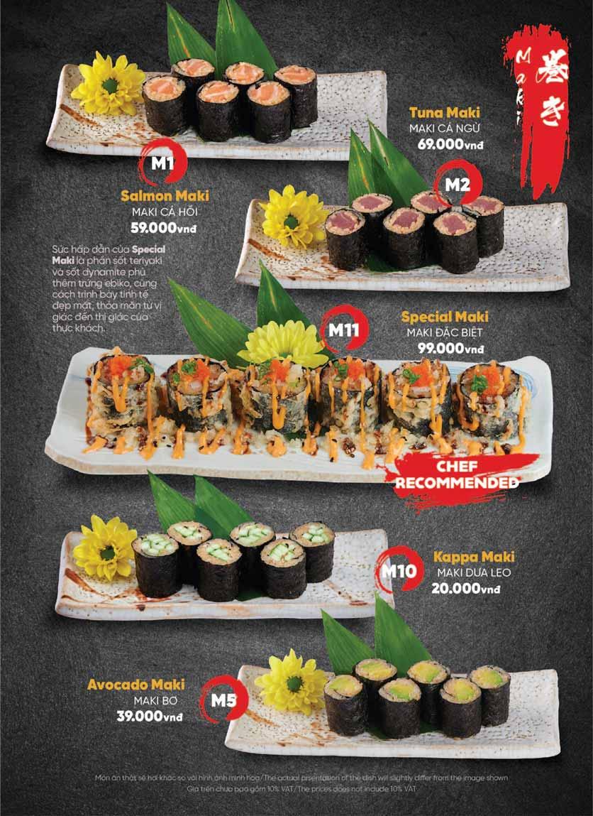 Menu Naked Sushi - Trương Định 20