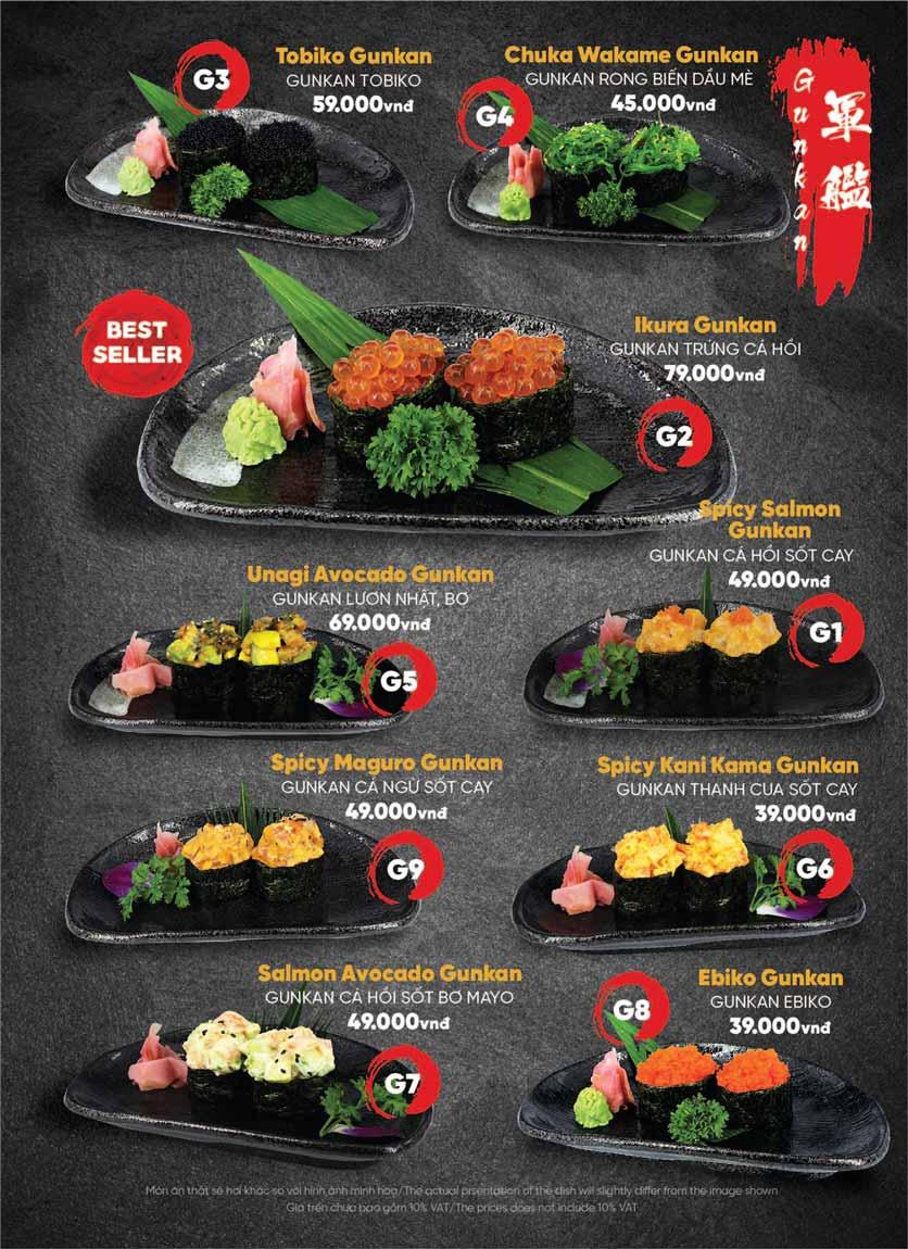 Menu Naked Sushi - Trương Định 22