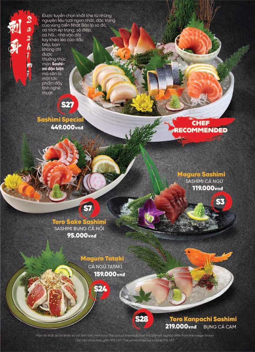 Menu Naked Sushi - Trương Định 3