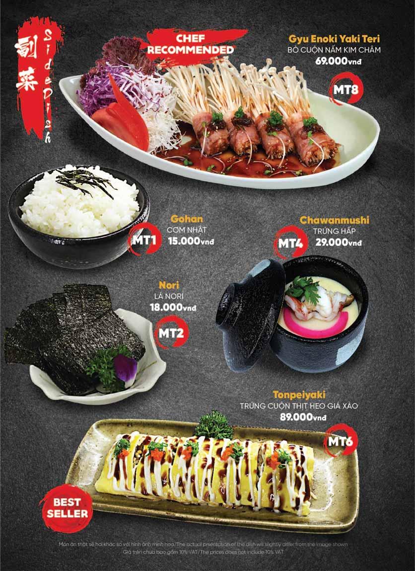 Menu Naked Sushi - Trương Định 31