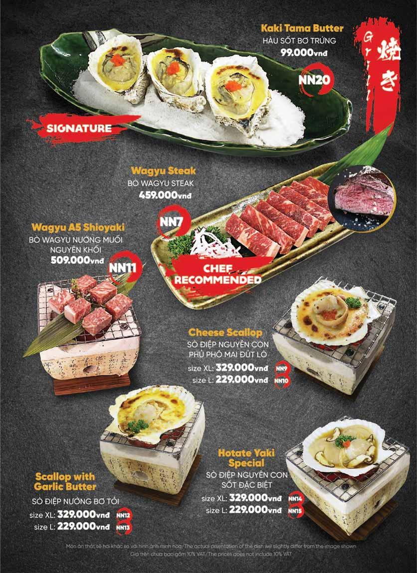 Menu Naked Sushi - Trương Định 37