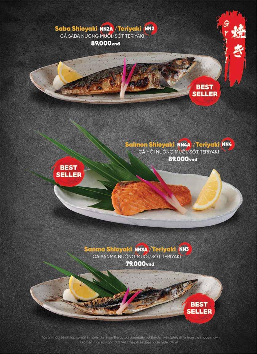 Menu Naked Sushi - Trương Định 38