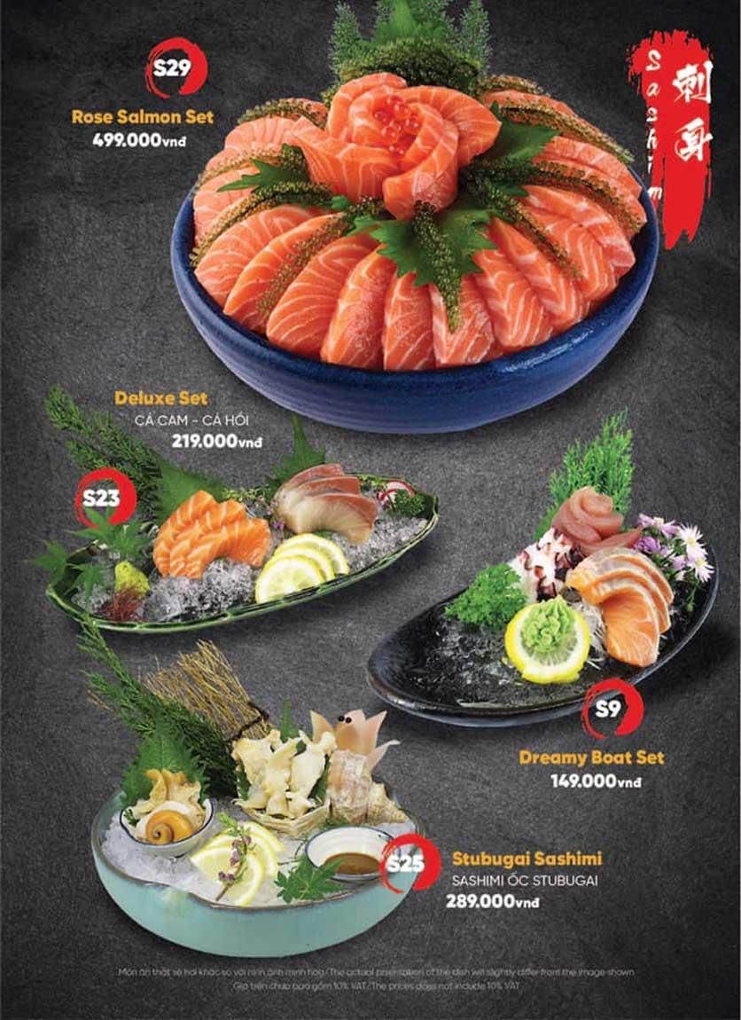 Menu Naked Sushi - Trương Định 4