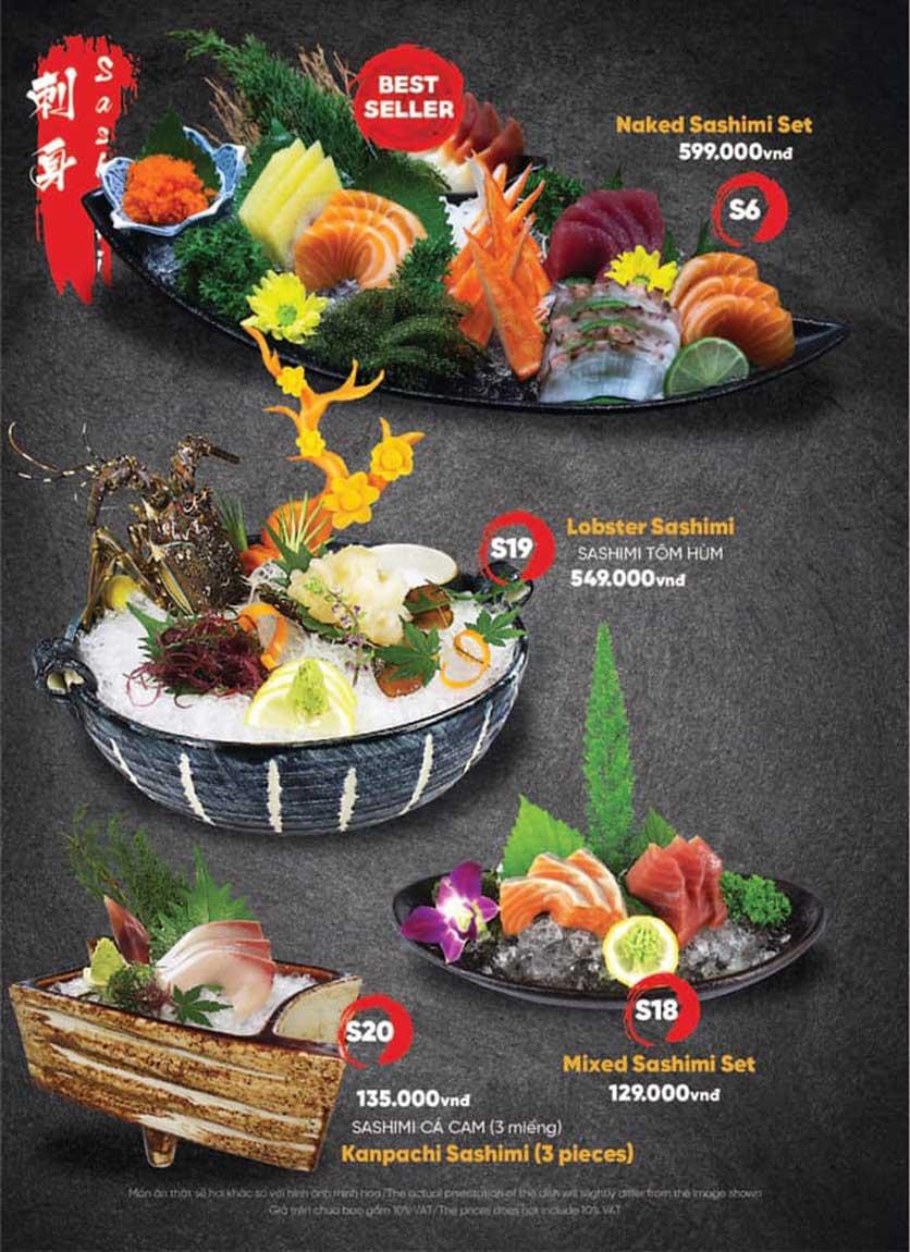 Menu Naked Sushi - Trương Định 5