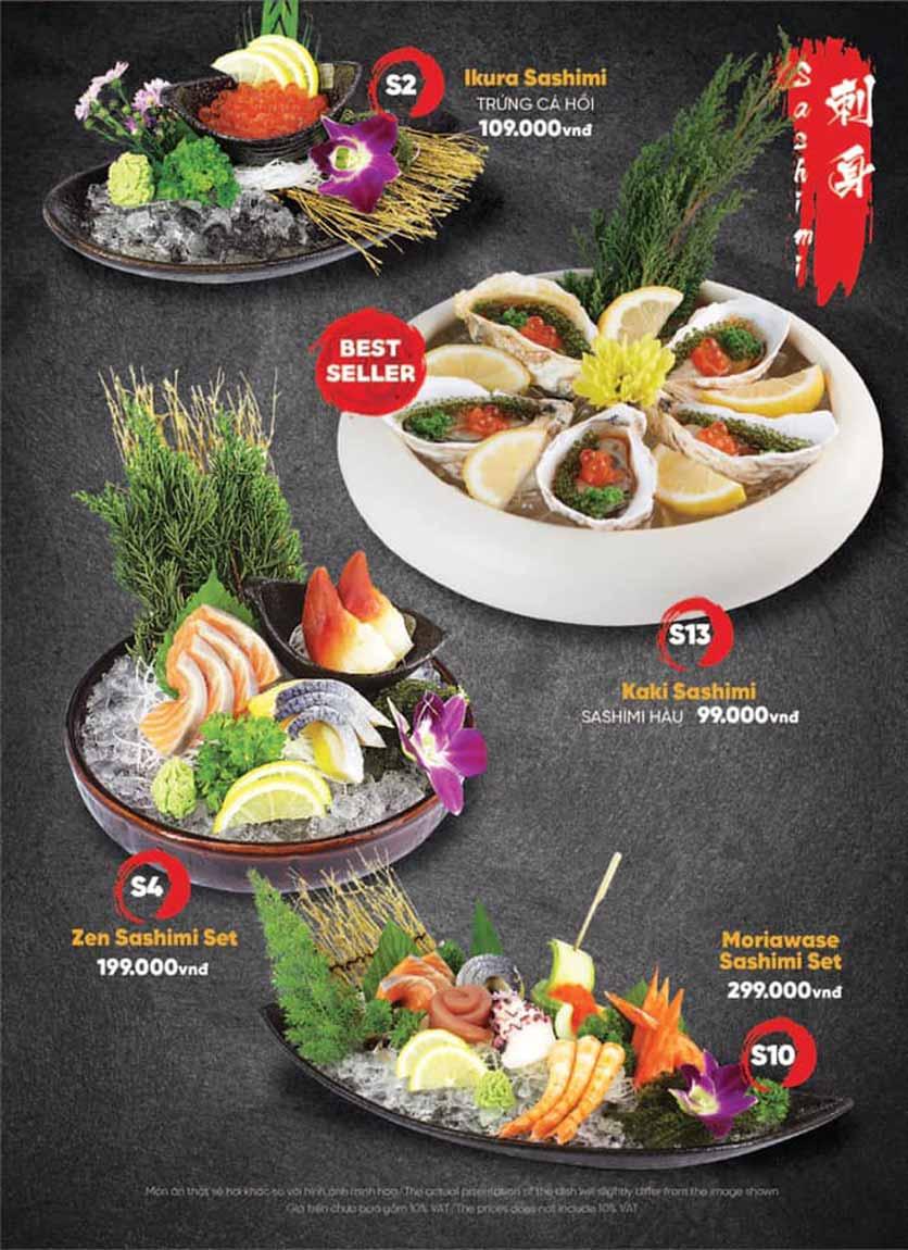 Menu Naked Sushi - Trương Định 6