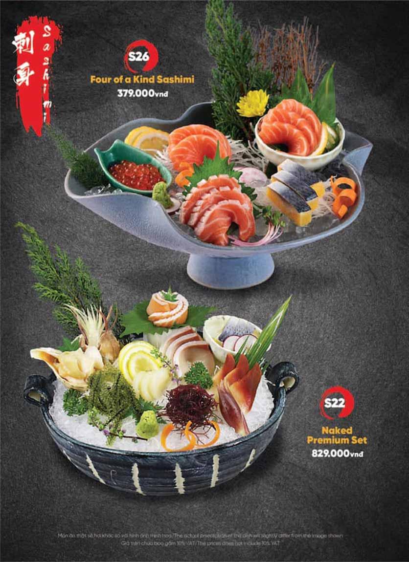 Menu Naked Sushi - Trương Định 8