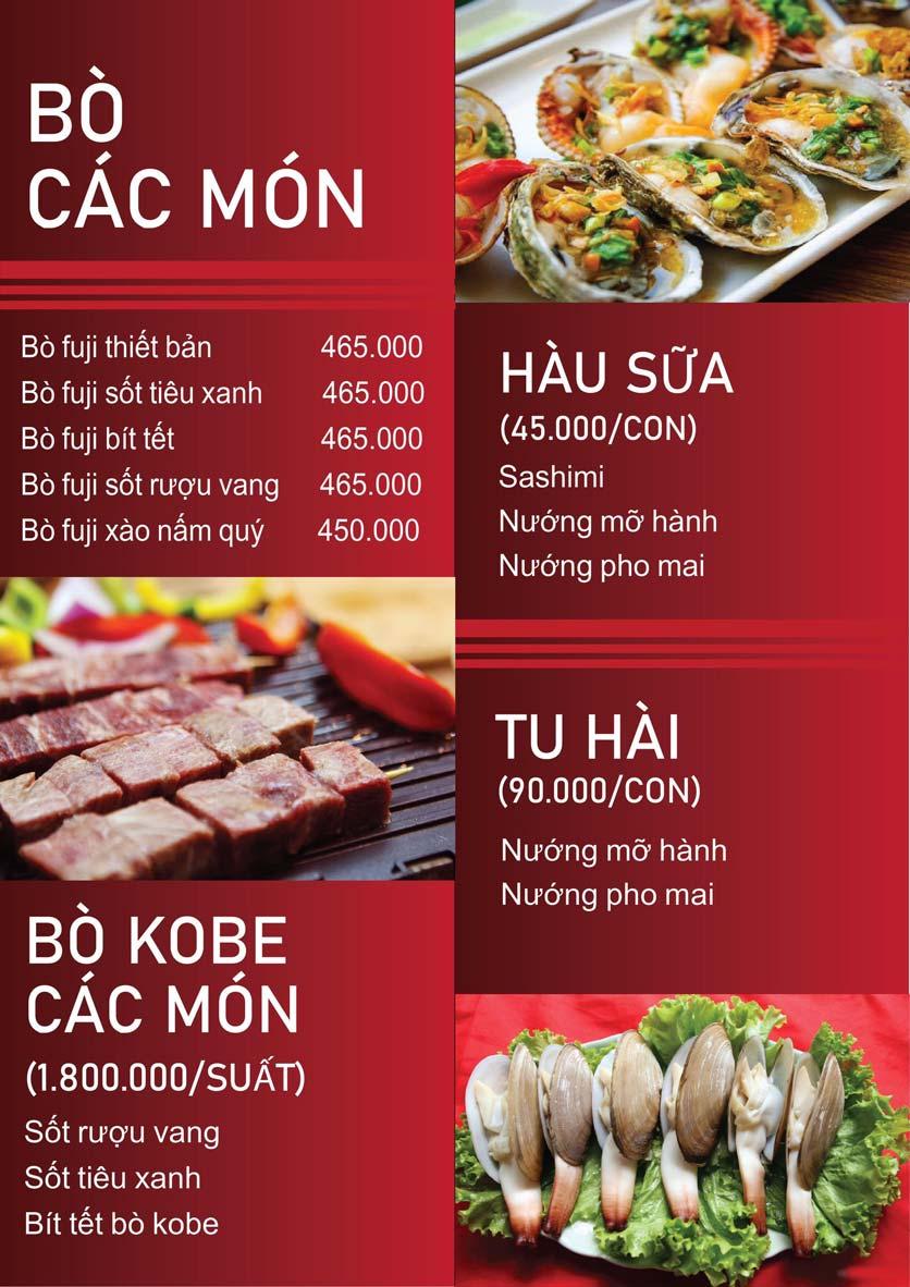Menu Nấm Tràng An - Phạm Văn Đồng 11