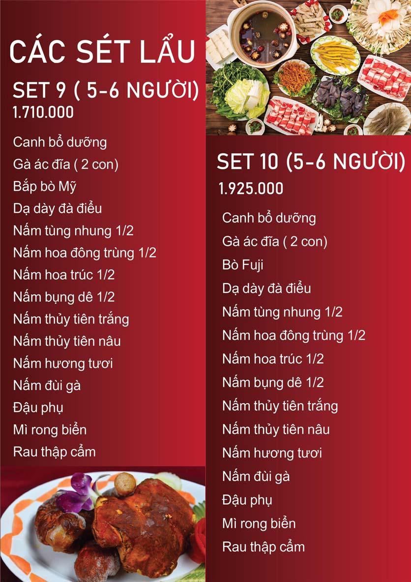 Menu Nấm Tràng An - Phạm Văn Đồng 12