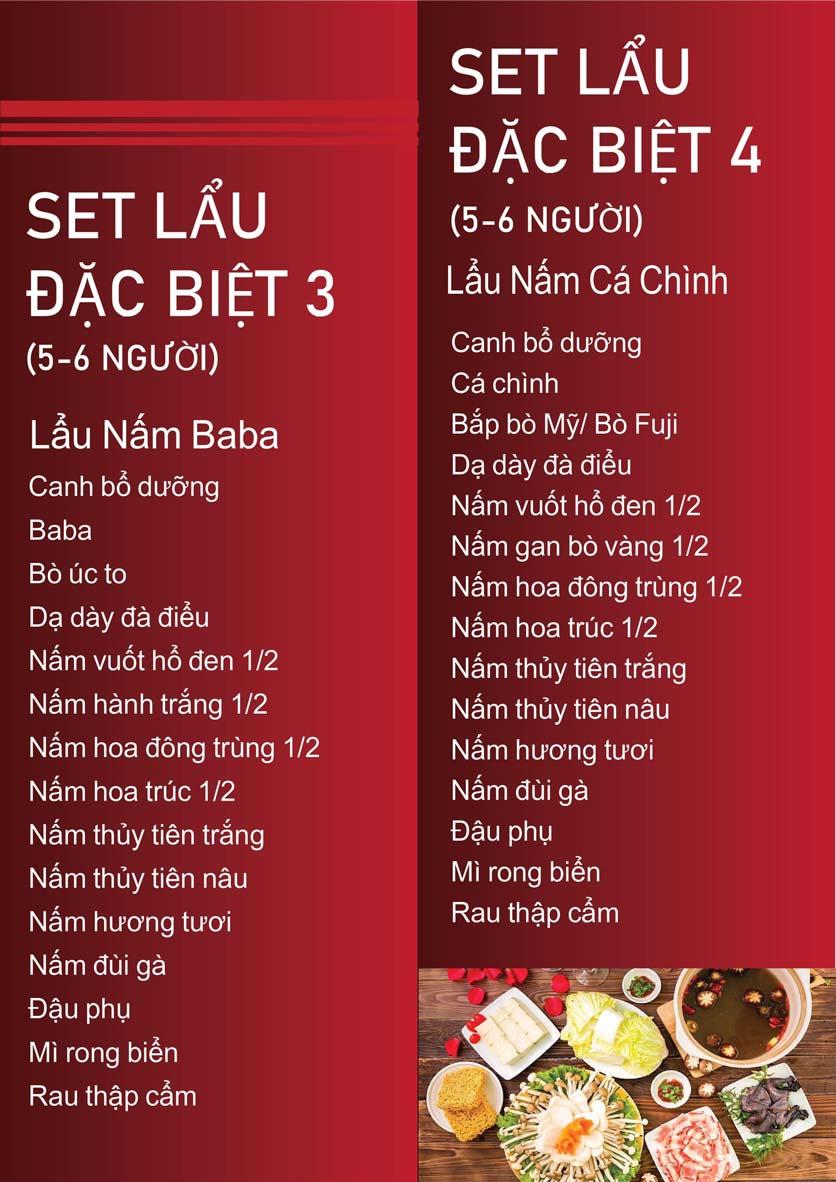 Menu Nấm Tràng An - Phạm Văn Đồng 13