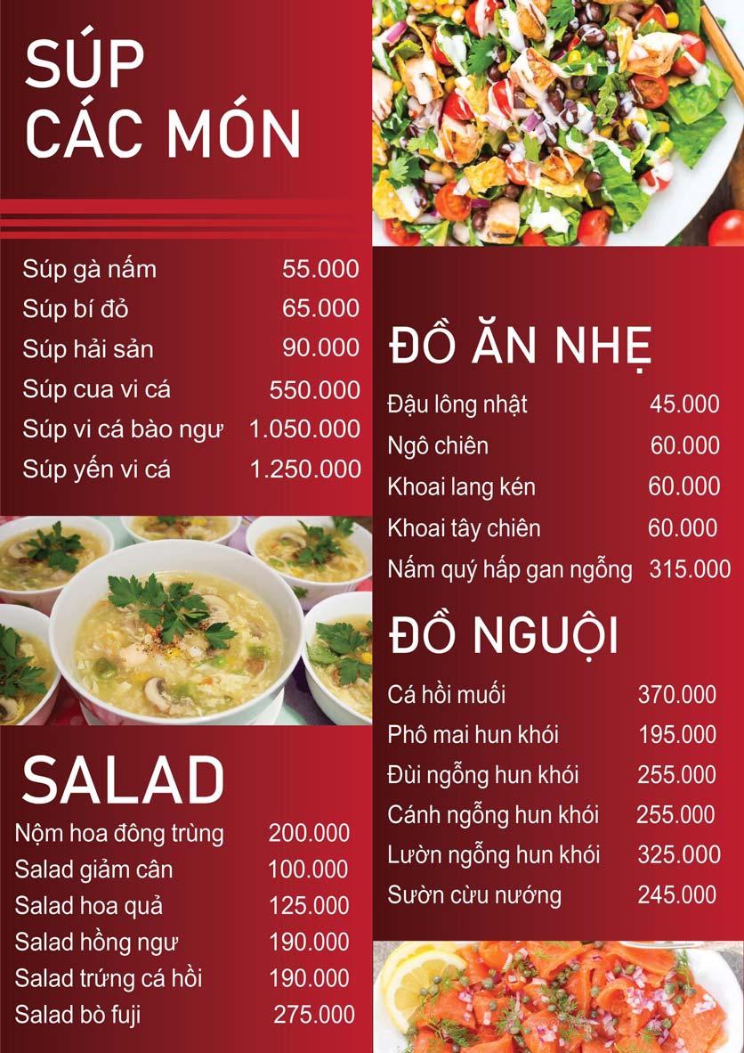 Menu Nấm Tràng An - Phạm Văn Đồng 2