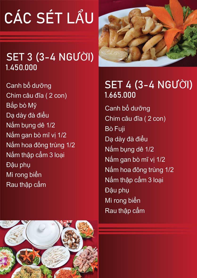 Menu Nấm Tràng An - Phạm Văn Đồng 4
