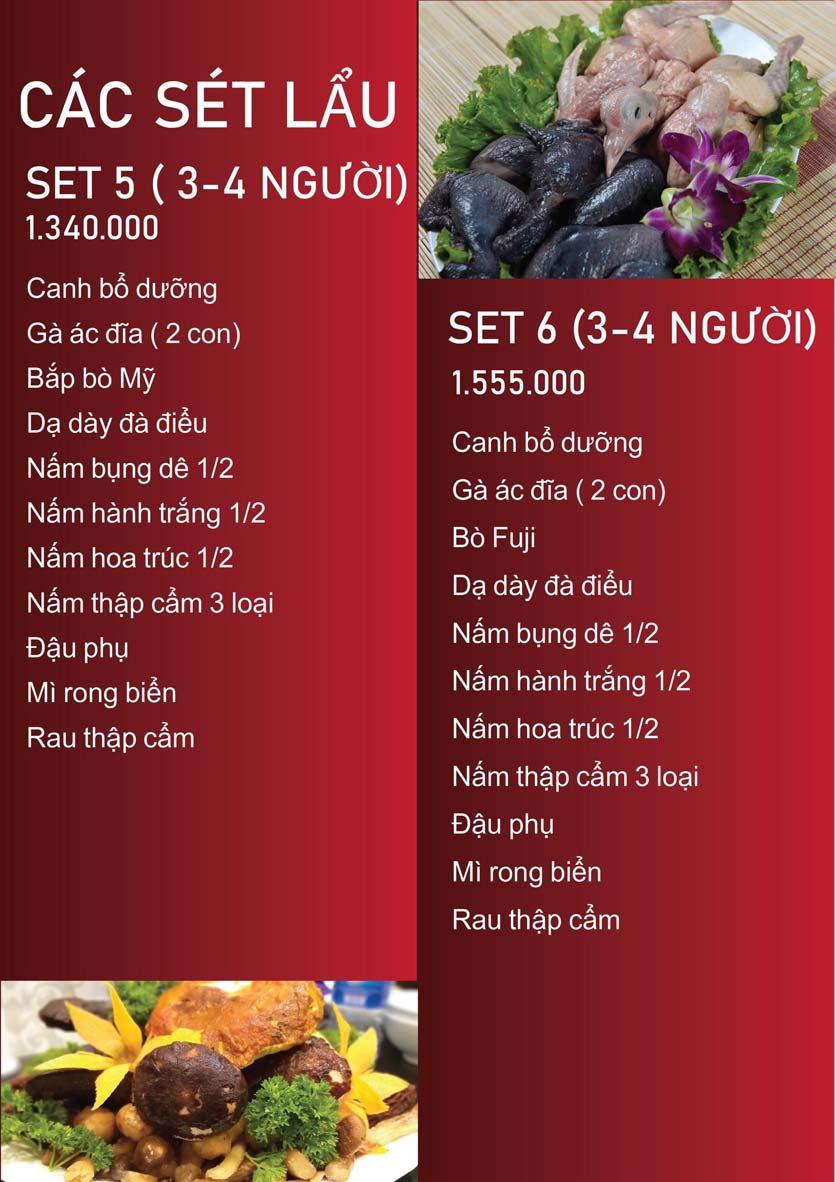 Menu Nấm Tràng An - Phạm Văn Đồng 5