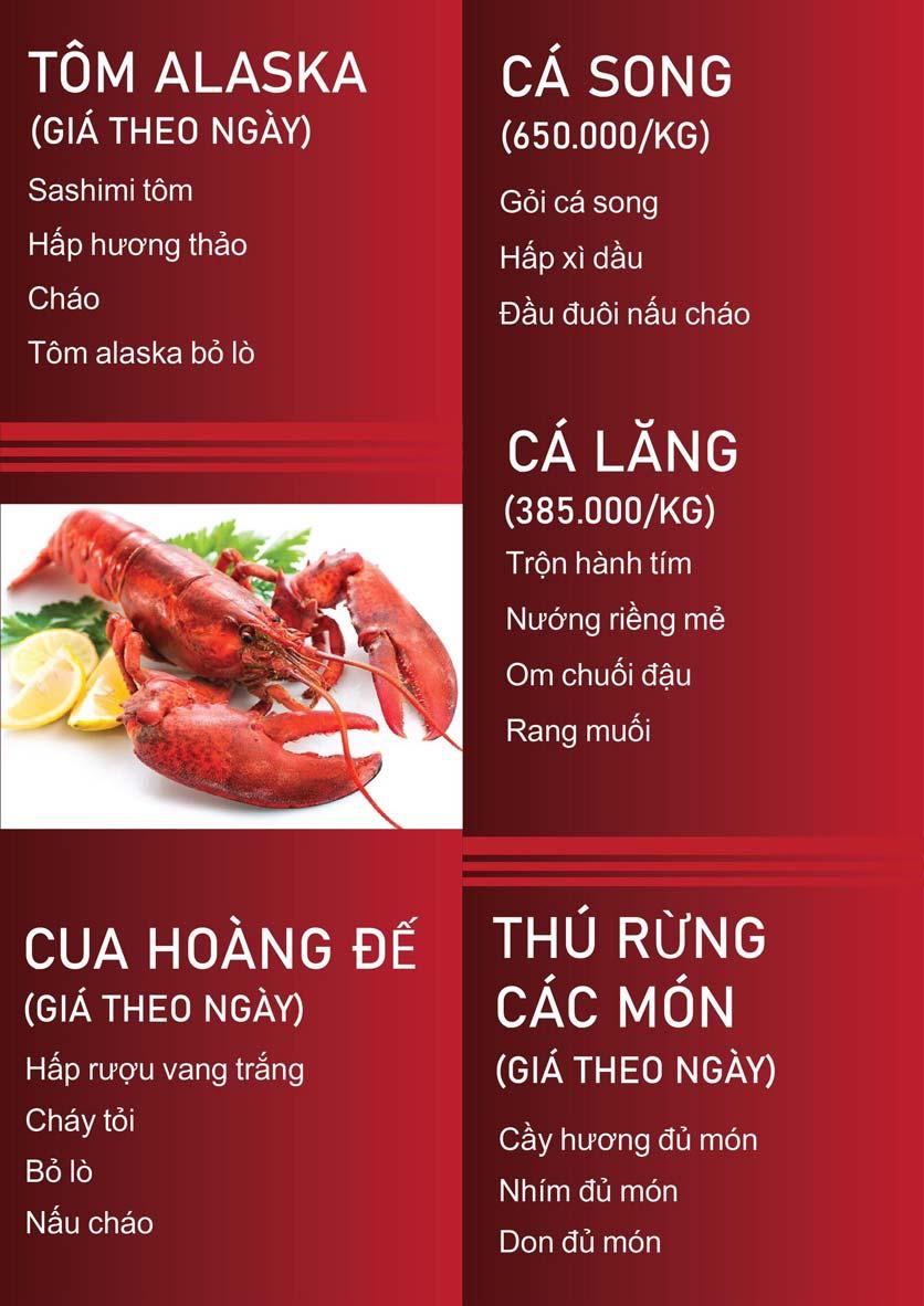 Menu Nấm Tràng An - Phạm Văn Đồng 7
