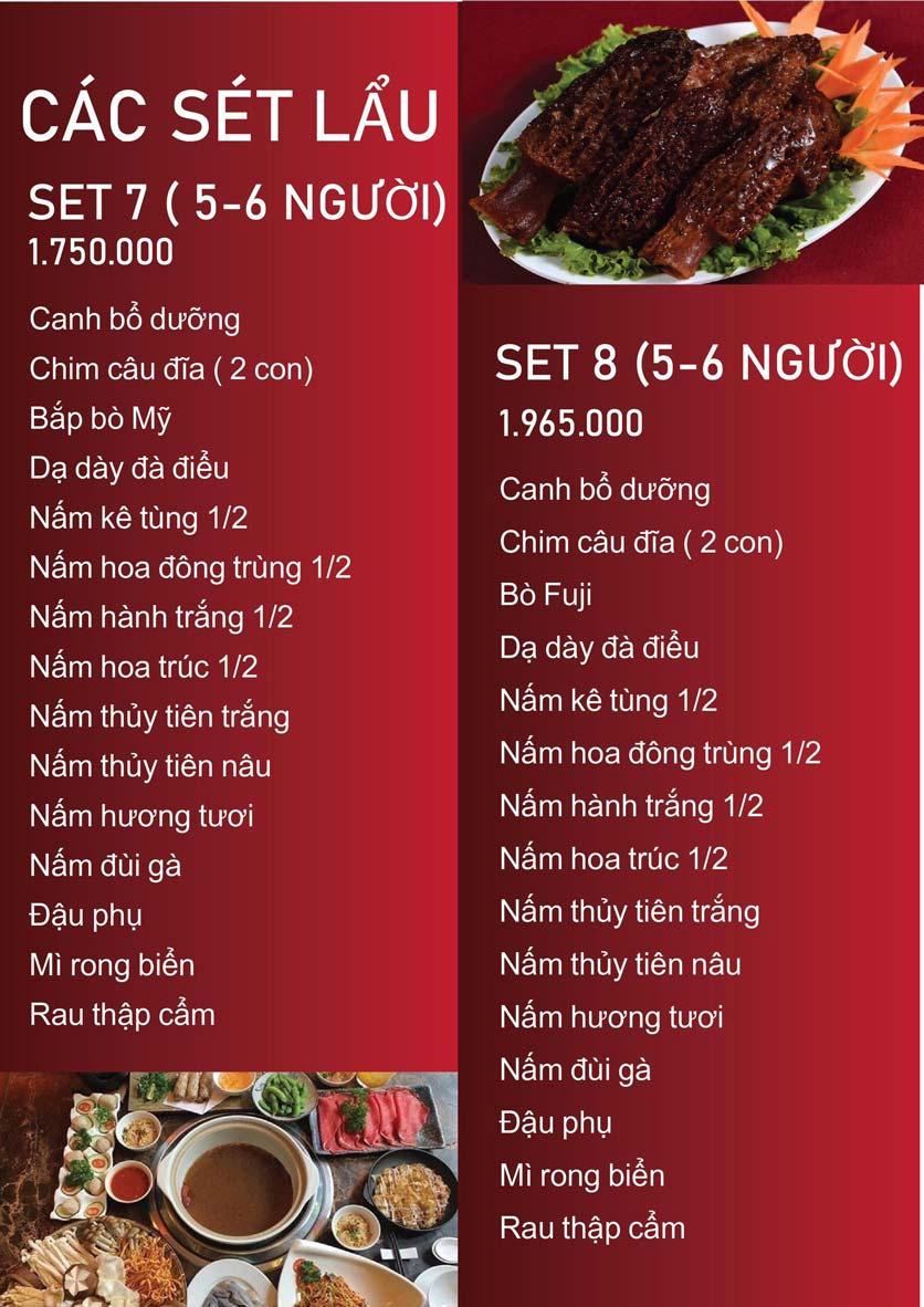 Menu Nấm Tràng An - Phạm Văn Đồng 9