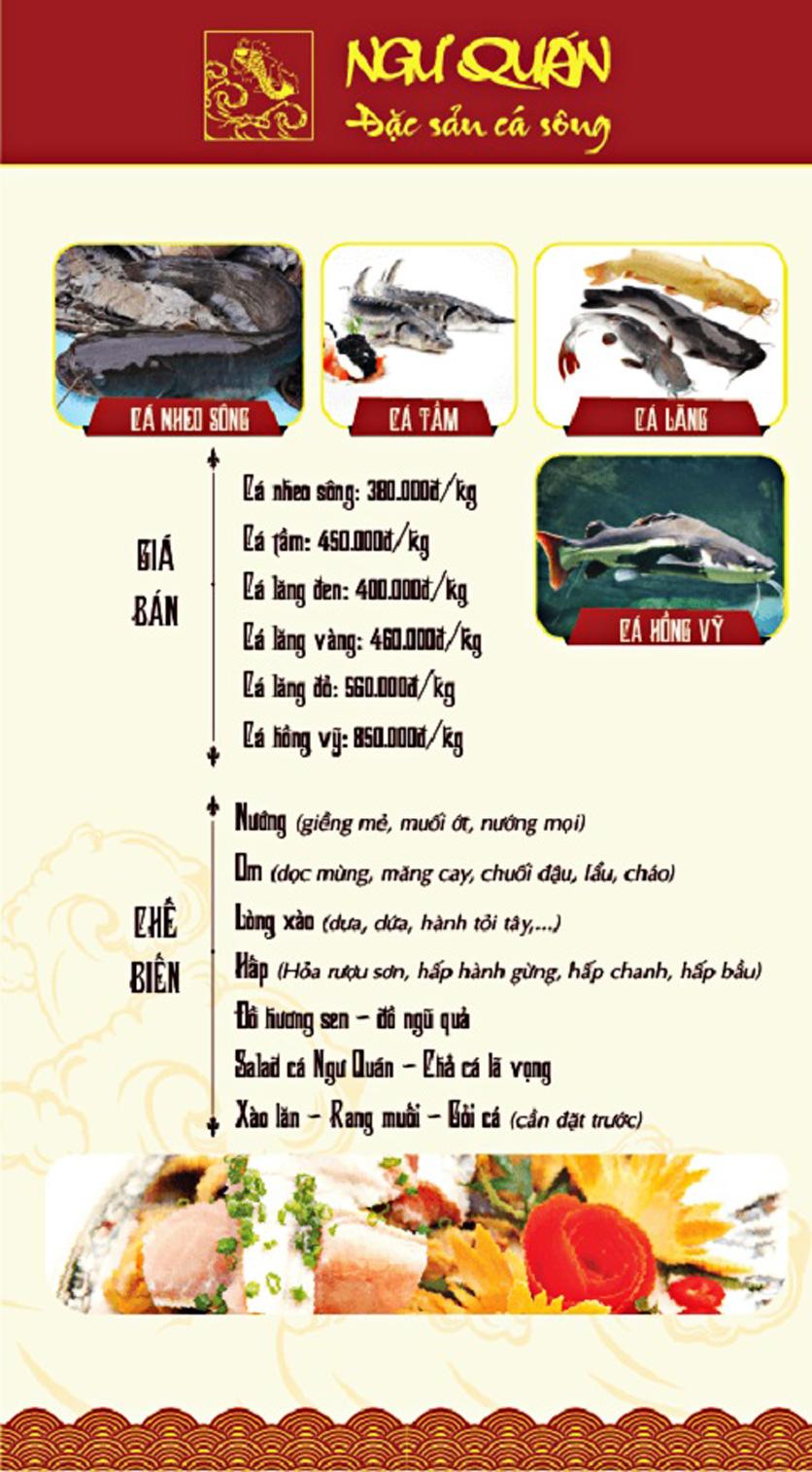 Menu Ngư Quán - Đặc Sản Cá Sông - KĐT Dịch Vọng 5