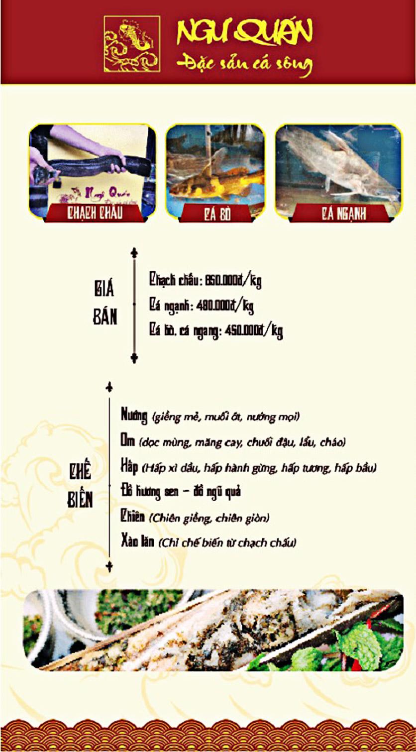 Menu Ngư Quán - Đặc Sản Cá Sông - KĐT Dịch Vọng 6