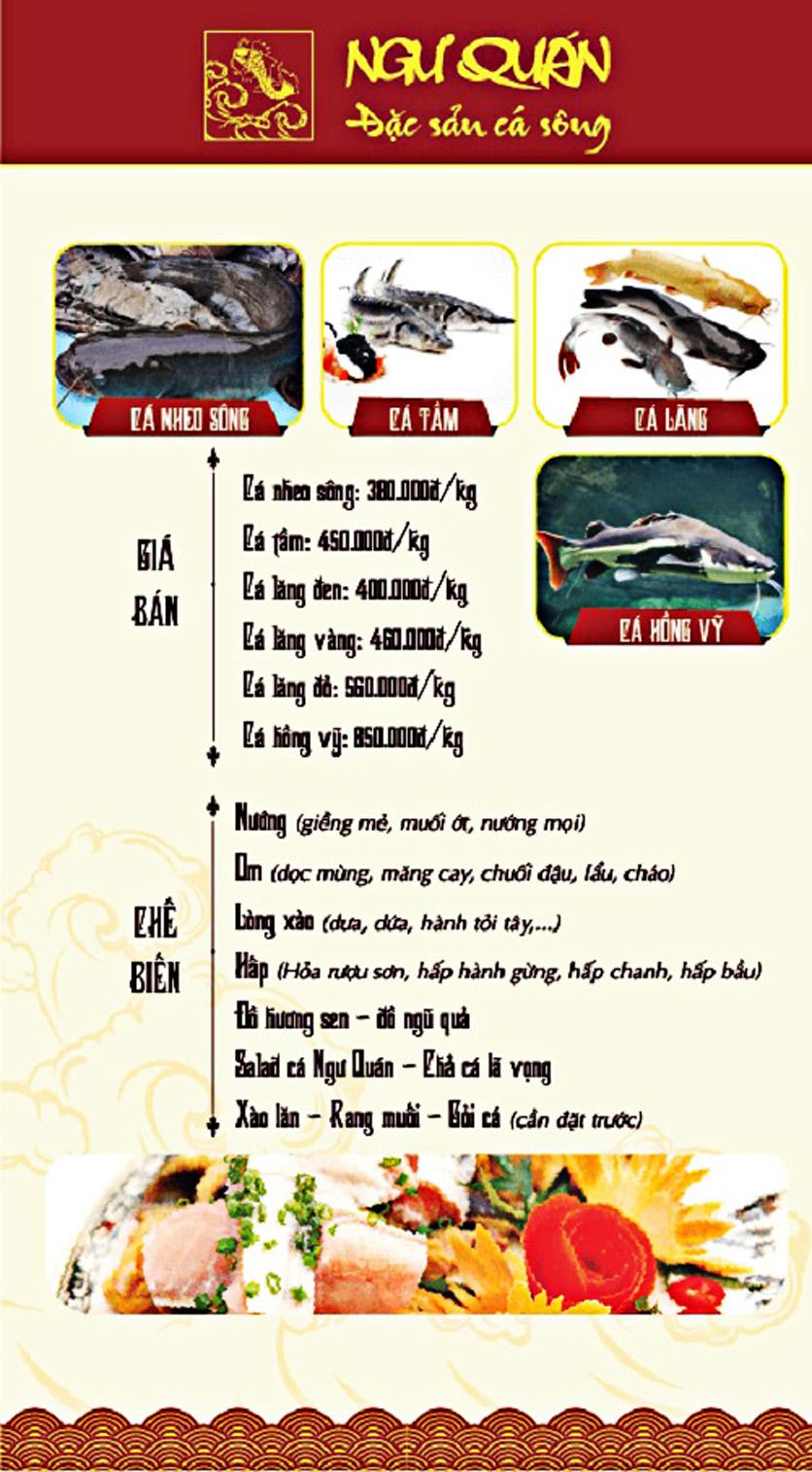 Menu Ngư Quán - Đặc Sản Cá Sông - KĐT Dịch Vọng 7