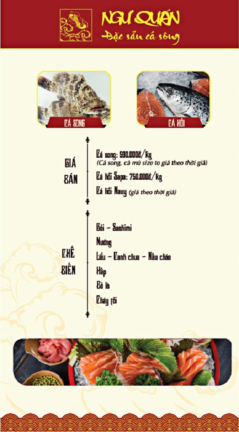 Menu Ngư Quán - Đặc Sản Cá Sông - KĐT Dịch Vọng 8