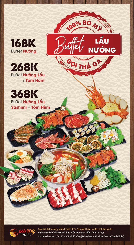Menu 668 BBQ & hotpot -  Trần Thánh Tông 1
