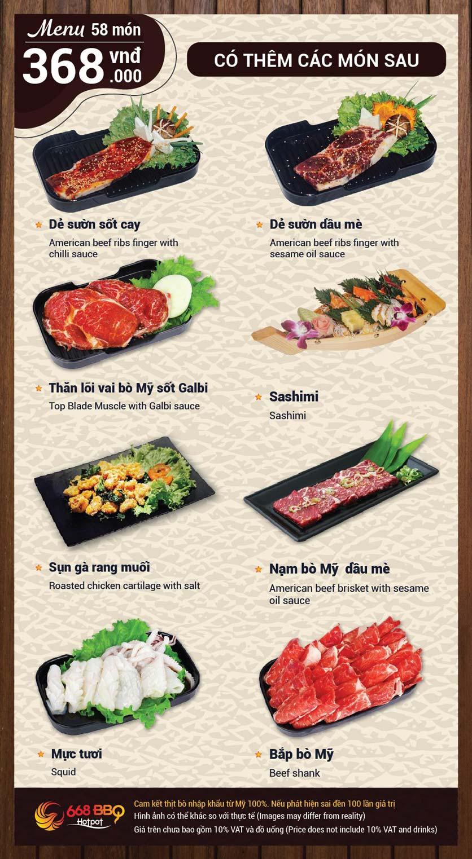 Menu 668 BBQ & hotpot -  Trần Thánh Tông 10