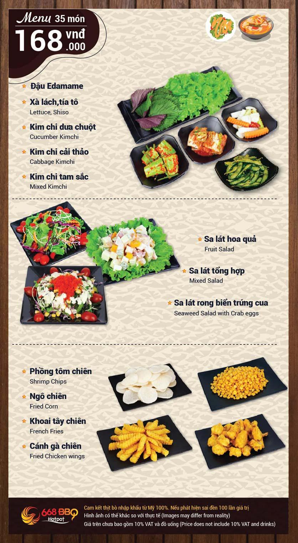 Menu 668 BBQ & hotpot -  Trần Thánh Tông 2