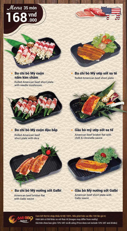 Menu 668 BBQ & hotpot -  Trần Thánh Tông 3