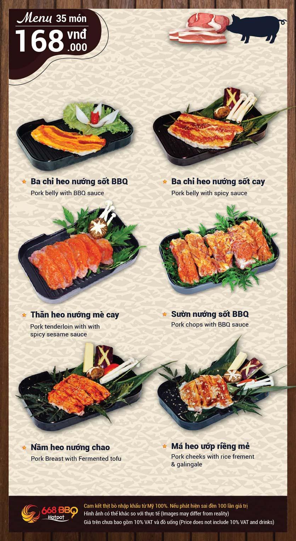 Menu 668 BBQ & hotpot -  Trần Thánh Tông 4