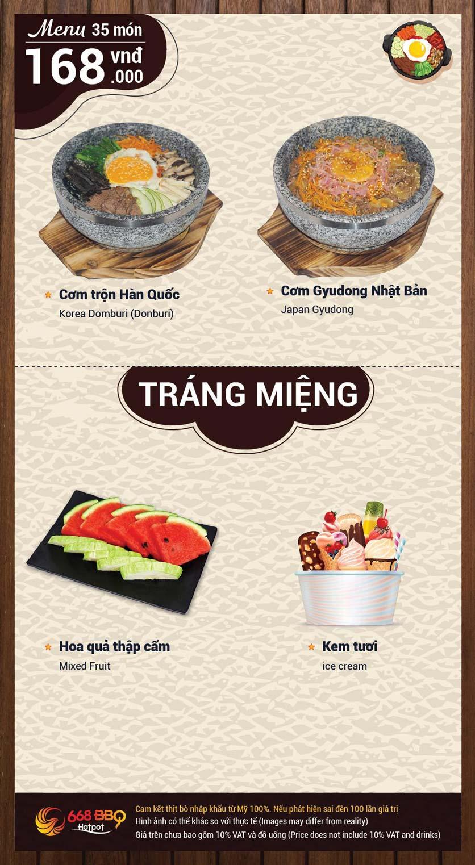 Menu 668 BBQ & hotpot -  Trần Thánh Tông 7