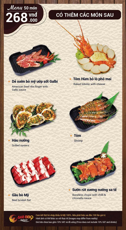 Menu 668 BBQ & hotpot -  Trần Thánh Tông 8
